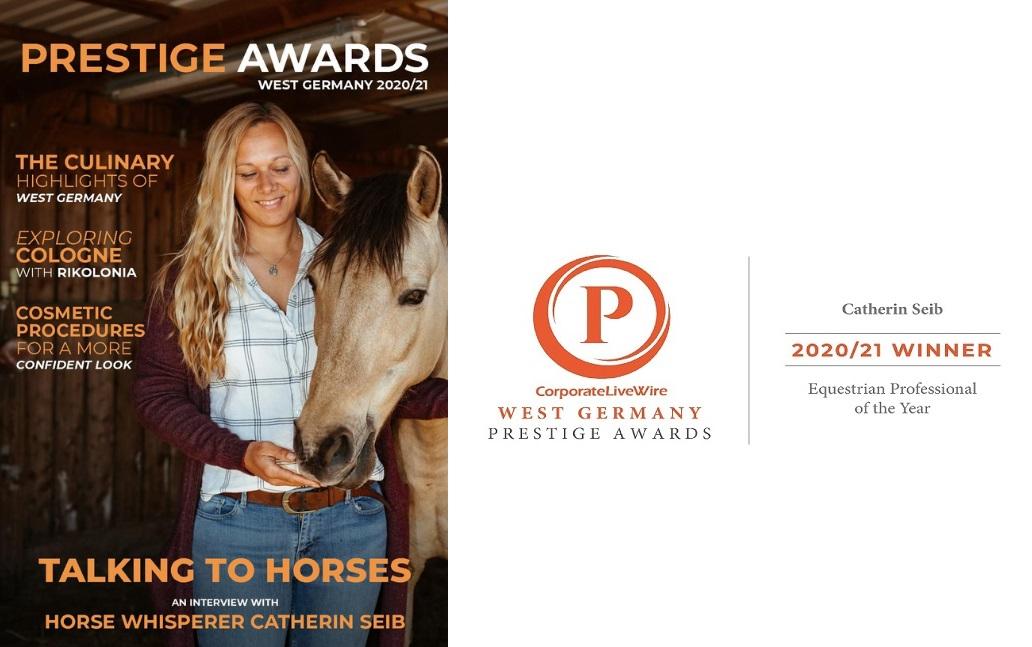 Catherin Seib ist die Gewinnerin des Prestige Awards Equestrian of the Year 2020/21