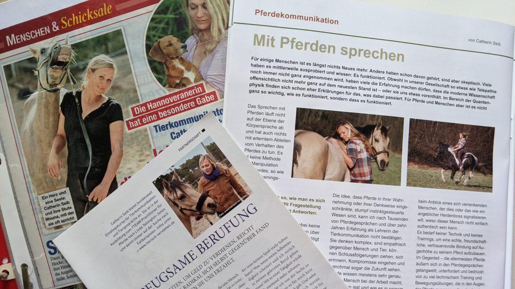 Zeitungsartikel Catherin Seib Tierkommunikation